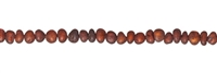 String Baroque, Amber, cognac dark matt, appr. 05 x 04mm