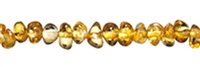 String Baroque, Amber, transparent yellow, appr. 05 x 04mm
