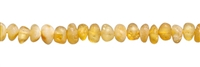 String Baroque, Amber, milky yellow, appr. 04 x 03mm