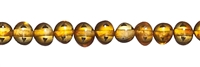 String Baroque, Amber, light cognac, appr. 04 x 03mm