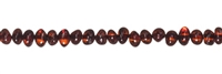 String Baroque, Amber, cognac dark, appr. 04 x 03mm