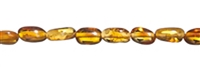 String Tumbled stones longish, Amber, light cognac, appr. 04mm