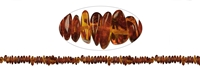 String Chips, Amber dark, appr. 06 - 11 x 05 - 08mm