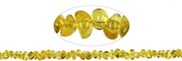 String Tumbled stones, Amber, appr. 04 - 09 x 05mm