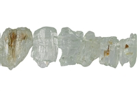String Rough Crystals, Beryl, 22 - 34mm, Length appr. 38cm, Single Piece Nr. 01