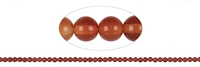 String Beads, Carnelian (heated), 02mm