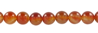 String beads, Carnelian (heated), 20mm