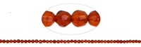 String Beads, Carnelian (heated), facetted., 02mm