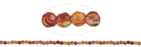 String Beads, Carnelian (heated), faceted, 03mm