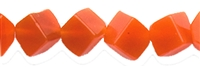 String Cube, Carnelian (heated), diagonally drilled, 06mm