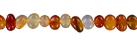 "String Nuggets ""Pebbles"", Carnelian (heated), 07-09 x 12 mm"
