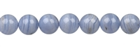 String Beads, Blue Lace Agate, 10mm