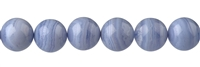String beads, Blue Lace Agate A, 12mm