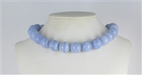 String Beads, Blue Lace Agate A+, 18mm
