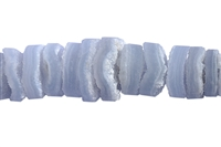 String Button, Blue Lace Agate, app. 06 x 10-20mm