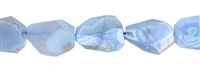 String Nuggets, Blue Lace Agate, faceted, appr. 25-30 x 15-25mm