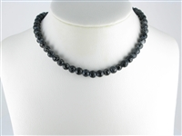 String Beads, Onyx furrowed (dyed), facted, 08mm, appr. 35cm
