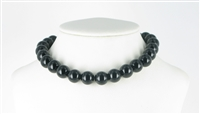 String Beads, Onyx (dyed), 12mm