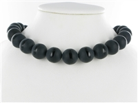 String Beads, Onyx (dyed), partly frosted, 16mm