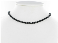 String Beads, Onyx (dyed), faceted, 04mm
