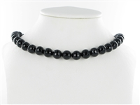 String Beads, Onyx (dyed), facetted, 10mm
