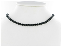 String Beads, Onyx (dyed), faceted, 05mm