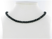 "String  Beads ""Windows"", Onyx (dyed), 06mm"