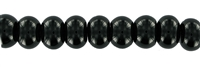 String Button, Onyx (dyed), 10 x 14mm