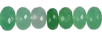 String Button, Chrysoprase, faceted, 09 - 10mm, Single Piece Nr. 12