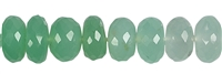 String Button, Chrysoprase, 08 - 09mm, faceted, Single piece Nr. 15