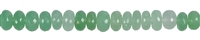 String Button, Chrysoprase, faceted, 10 - 13mm, Single Piece Nr. 16