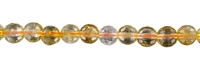 String beads, Citrine (heated), faceted, 12mm