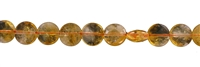 String Button flat, Citrine (heated) AA, 10mm