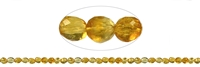 String Pebbles, Citrine (heated), faceted, 06-10 x 06mm