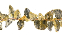 String Leave, Citrine (heated), appr. 14-16 x 24-30mm