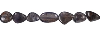Strings Tumbled Stones flat, Iolite, appr. 10-14 x 05-08mm