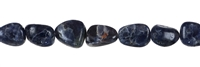 String Tumbled Stone, Iolite, app. 17-20 x 10-15mm