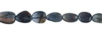 String Tumbled Stones, Iolite, app. 13-20 x 05-10mm