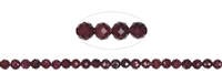String Beads, Garnet, facetted, 04mm