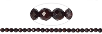 String Beads, Garnet, facetted, 08mm