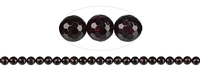 String Beads, Garnet, faceted (64 cut), 08mm