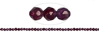 String Beads, Garnet (violet), faceted, 3mm