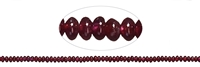 String Button, Garnet, 02-03 x 05mm
