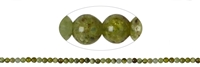 String beads, Garnet green (Grossular), 04mm