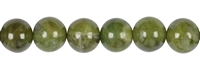 String Beads, Garnet green (Grossular), 12mm