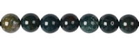 String Beads, Blood stone, 10mm