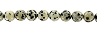 String Beads, Dalmatian Stone, 12mm