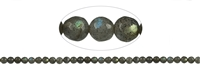 String Beads, Labradorite, faceted, 06mm