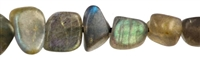 String Tumbled Stone, Labradorite AAA, app. 05-06 x 08-10mm
