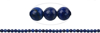 String Beads, Lapis A, 06mm